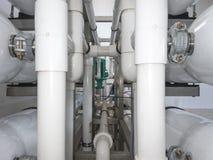 Installation av industriella membranapparater Arkivfoto