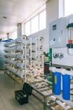 Installation av industriella membranapparater Royaltyfri Fotografi