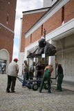 The installation of the bust - In homage to John Paul II by Anna Gulak in the Centre of Pope John Paul II in Lagiewniki Stock Photo