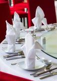 Installation chinoise de table de salle à manger Images libres de droits