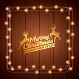 Installation of Christmas lights decoration Stock Photography