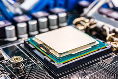 Installation computer chip Royalty Free Stock Photo
