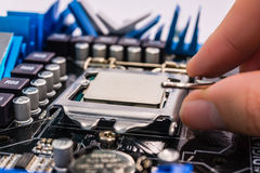 Installation computer chip Royalty Free Stock Image