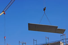 Installation of a concrete ceiling Stock Image