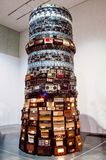 Installation créée par de vieilles radios Photographie stock