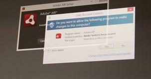 Installation d'air d'Adobe clips vidéos