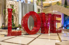 Installation d'AMOUR à Las Vegas vénitien Photo libre de droits