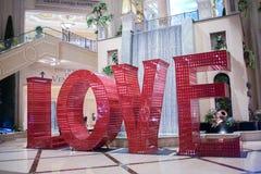 Installation d'art d'amour au vénitien Photo stock