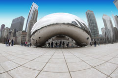 Installation d'art d'haricot de Chicago Images libres de droits