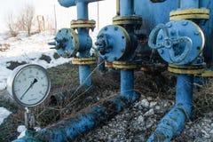Installation d'extraction de l'huile Images libres de droits