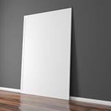 installation 3d intérieure avec le mur grunge et le plancher en bois Photographie stock libre de droits
