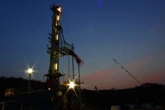 Installation de coucher du soleil Image libre de droits