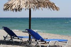 Installation de détente sur la plage Image stock