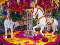 Installation de fleur d'hôtel de Las Vegas Wynn Photographie stock