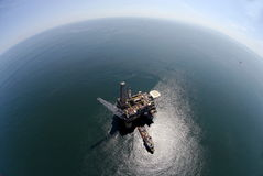 Installation de forage de pétrole Photo stock
