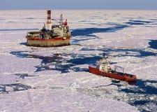 Installation de forage de pétrole image libre de droits