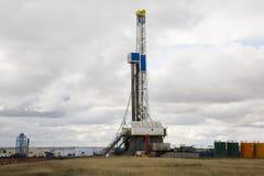 Installation de forage de pétrole de prairie Image libre de droits