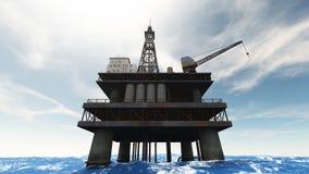 Installation de foret de pétrole illustration stock