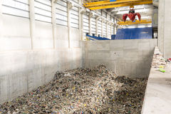 Installation de gestion des déchets Images libres de droits