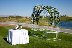 Installation de mariage Image libre de droits