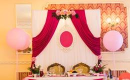 Installation de mariage photo stock