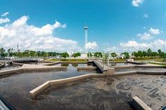 Installation de nettoyage de l'eau Photo stock