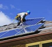 Installation de panneau solaire Photo libre de droits
