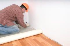 Installation de plancher Image libre de droits