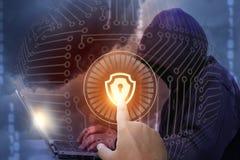 Installation de sécurité de réseau photos stock
