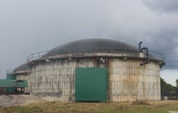 Installation de stockage et production du bio gaz Images libres de droits