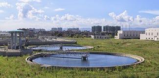 Installation de traitement d'eaux d'égout Photos stock