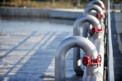 Installation de traitement d'eaux résiduaires Photos stock