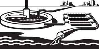Installation de traitement de l'eau illustration libre de droits