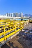 Installation de traitement de l'eau industrielle Photographie stock libre de droits