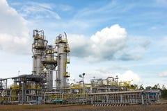 Installation de traitement de pétrole et de gaz. Photo libre de droits