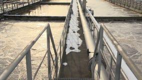 Installation de traitement des eaux usées pour le prénettoyage organique des eaux usées statique banque de vidéos