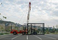 Installation de Workover à Bakou photographie stock libre de droits