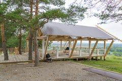 Installation der Veranda Stockfoto