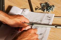 Installation des constructions métalliques Photographie stock libre de droits