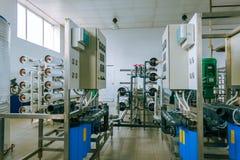 Installation des dispositifs industriels de membrane images libres de droits