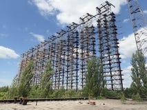 Installation des Radar-Duga-1, Tschornobyl Lizenzfreie Stockbilder