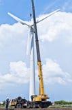 Installation des turbines de vent Photo stock