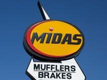 Installation des véhicules à moteur de service de MIDAS Image stock