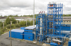Installation expérimentale à l'institut du raffinage du pétrole Image stock