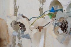 installation för ¼ för ¿ för ï för ï¿ ¼ gammal elektrisk Royaltyfri Foto