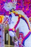 Installation för Las Vegas Wynn hotellblomma Royaltyfri Fotografi