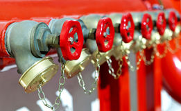 Installation of fire safety stock images