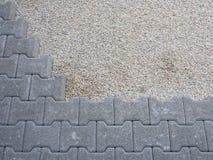 Installation of a floor self-locking gray Royalty Free Stock Image
