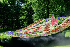 Installation Flying Carpet in Mikhailovsky Garden, St. Petersburg Stock Photography