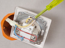 Installation home wiring Royalty Free Stock Photos